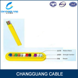 Gjdfjv Indoor Flat Fiber Ribbon Distribution 12 Core Optic Cable pictures & photos