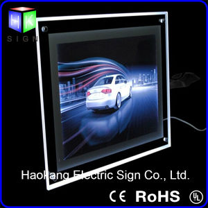 Wall Mounted Acrylic Crystal LED Slim Light Box pictures & photos