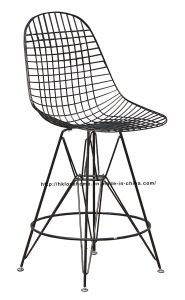 Modern Restaurant Knock Down Steel Wire Eames Side Counter Chair pictures & photos