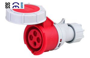 Industrial Connector (QJ-2142) of IP67 16A 3p+E Plastic PA66
