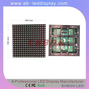 Super High Brightness Over 8000nits P10 Outdoor Waterproof DIP Module 160*160mm pictures & photos