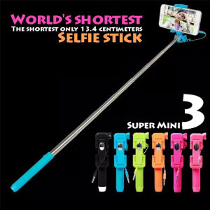New Fashion Mini Selfie Stick, Selfie Monopod with Cable pictures & photos