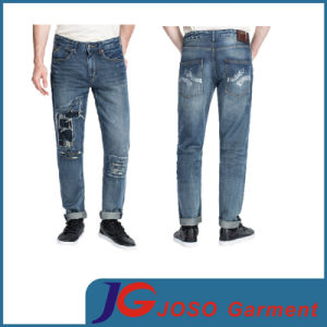 Long Pants for Men Denim Jeans Patch Men′s Trousers (JC3372) pictures & photos