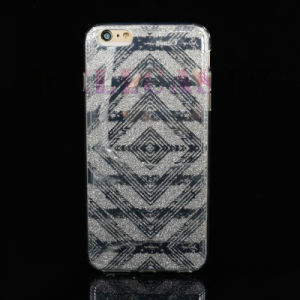New IMD 3D Painting Gliter Powder TPU Cellphone Case for iPhone 5/6/6p