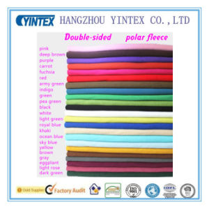 Anti-Pilling and Double-Sided Polar Fleece Fabric for Home Textiles pictures & photos