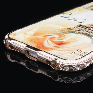 Custom Printed Cell/Mobile Phone Case with Metal Diamond Frame for iPhone 6/6plus pictures & photos