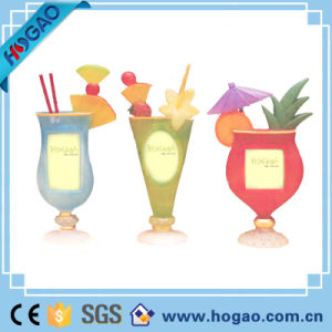 Promotional Gift Resin Juice Glass Creative Photo Frame pictures & photos