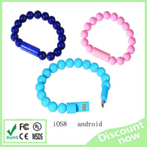 Colours of Bracelets Originality USB Cable for iPhone Sangsung Miscro Anroid Cellphone pictures & photos