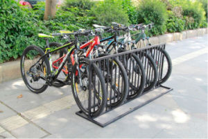 Classical Black Painting Bike Rack with Load 6 Bikes pictures & photos