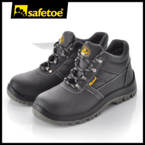 High Quality Cow Leather Safety Shoes (M-8215) pictures & photos