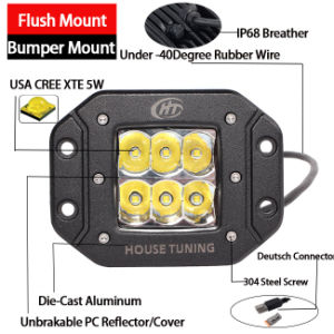 CREE Work LED Light Flush Mount (3inch, 30W Spot, IP68 Waterproof) pictures & photos