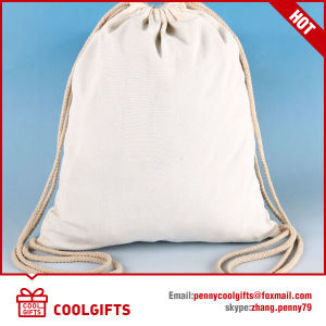 Promotional Gift Recycle Canvas Drawstring Bag, Cotton Bag pictures & photos