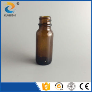 Customized Amber Glass Boston Bottle with Black Safety Lids