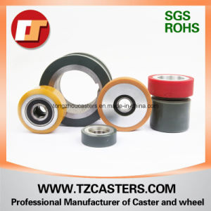 Polyurethane Wheel with Aluminum Center 90*18 pictures & photos