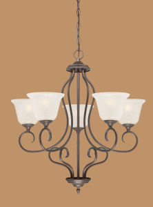 Hot Sale Chandelier with Glass Shade (1525RBZ)