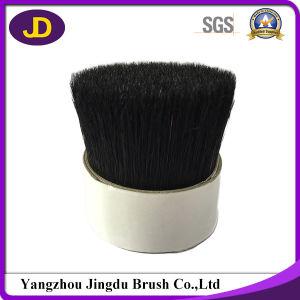 Black Color Yellow Tip Pure Bristle Hair Bristles pictures & photos