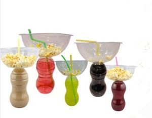 Good Price Plastic Popcorn Tub with Water, Coco, Mike Bottle Promoitonal