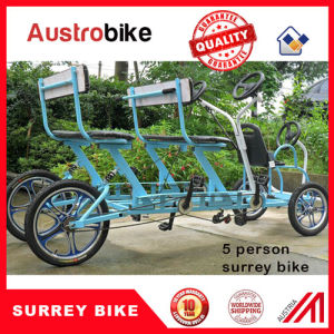 3 Speed 4 Wheel Two Person Surrey Bike for Family Hot Sale pictures & photos