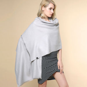 Women Fashion Plain Color 100% Acrylic Knitted Winter Shawl (YKY4517) pictures & photos