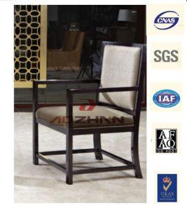 Classic Oak Wood Armrest Chair Hotel Restaurant Chair