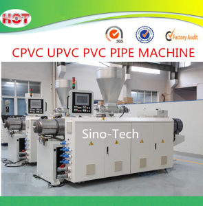 High Capacity 65/132 400kg/H PVC Plastic Conical Twin Screw Extruder pictures & photos