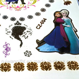 Wholsesale Golden Silver Temporary Tattoo Sticker in Cartoon Frozen Flash Tattoo pictures & photos