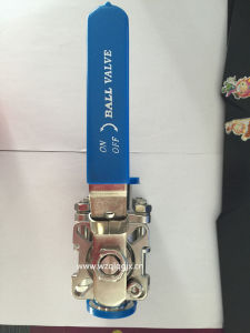 Stainless Steel High Platform Clamped Three-Way Ball Valve pictures & photos