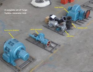 Turgo (water) Turbine Generator Unit