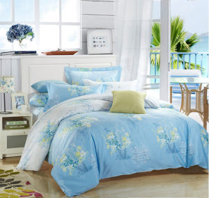 The New Soft Silk Cotton Printing Comfortable Bedding Set pictures & photos
