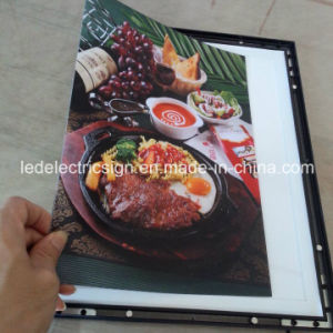 Aluminum Frame Slim LED Light Box with LED Open Sign for LED Display pictures & photos
