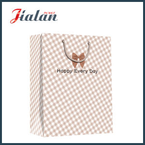 """""""Best Wishes & Happy Every Day"""" Plain Shopping Gift Paper Bag pictures & photos"""