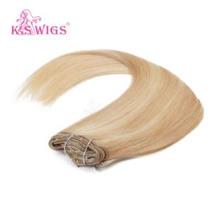 K. S Wigs Superior Quality Clip in Hair Extension 100% Brazilian Human Hair pictures & photos