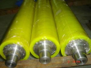 NBR Rubber Coated Conveyor Roller, Polyurethane Roller Cover pictures & photos