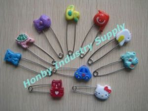 Fashion Design Various Animal Type Head Baby Diaper Safety Pin pictures & photos
