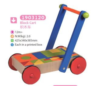 Wooden Blocks Cart Push Along Cart Wooden Toy pictures & photos