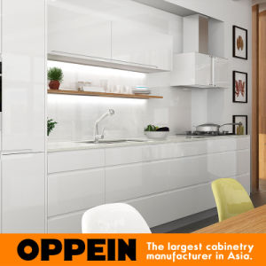 Oppein Modern Elegant High Quality Lacquer Wooden Kitchen Furniture (OP16-L07) pictures & photos