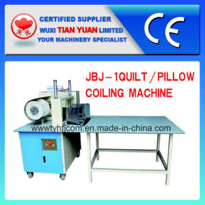 Automatic Pillow Cushion Mattress Duvet Quilt Coiling Rolling Machine (JBJ-1) pictures & photos