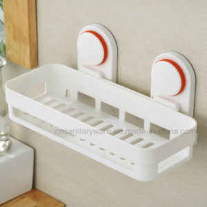 Rectangular ABS Material White Bathroom Rack