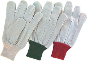 Polyester Knit Wrist Drill Cotton Work Glove pictures & photos