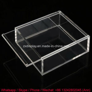 Clear Acrylic Storage Box with Removable Lid pictures & photos