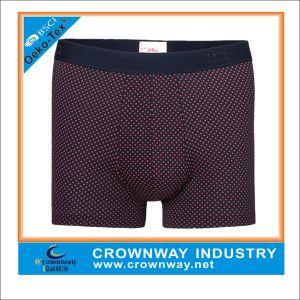 Men′s Knit Basic Boxer Short with DOT Partern pictures & photos