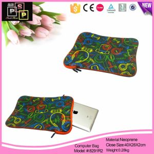 Flower Printing Neoprene Zipper Bag (8291R2) pictures & photos