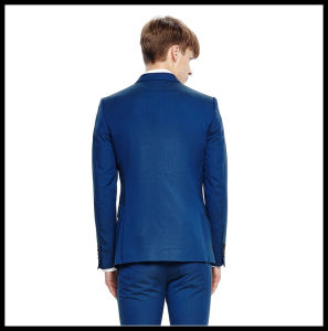 Made to Measure Slim Fit Mens Blue Suit pictures & photos