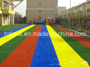 Colorful Artificial Grass for Playground pictures & photos