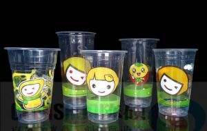 Disposable Clear Pet Plastic Cup with Lid Logo Printed pictures & photos