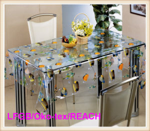 PVC Printed Transparent Tablecloth /Clear Table Cloth pictures & photos