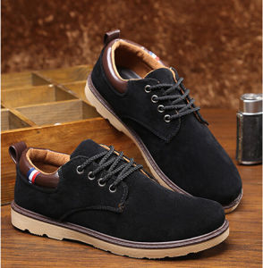 Leather Shoes Flat Lace up Ankle Boots for Man (AKLS3) pictures & photos