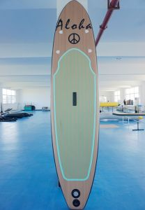 Woodgrain Light Weight Inflatable Stand up Paddle Sup Board for Sale pictures & photos