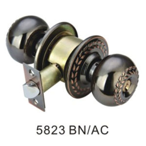 Good Quality Iron Big Round Lock Knob Lock (5823 BN/AC) pictures & photos