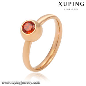 Fashion Elegant Small CZ 18k Gold-Plated Women Imitation Jewelry Finger Ring -13782 pictures & photos